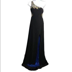 Camille La Vie formal evening dress one shoulder 2